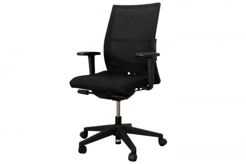 Bürodrehstuhl Haworth® Comforto 39 Stoff / Netz / Schwarz