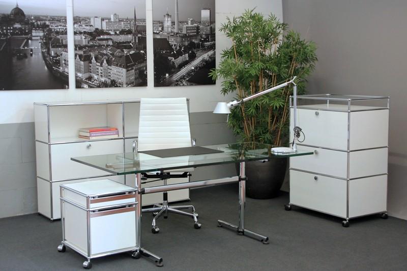 USM Kitos Schreibtisch Glas 180 x 80 cm