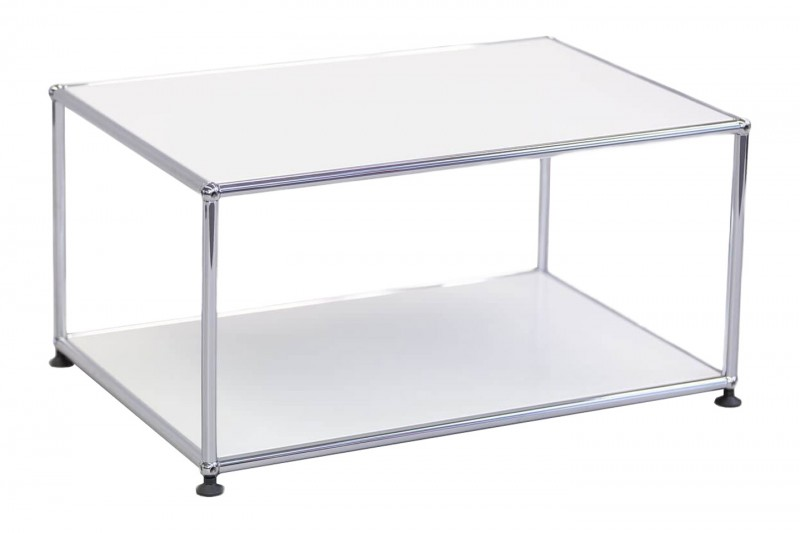 USM Haller Side Table Pure White RAL 9010 75 x 50 cm