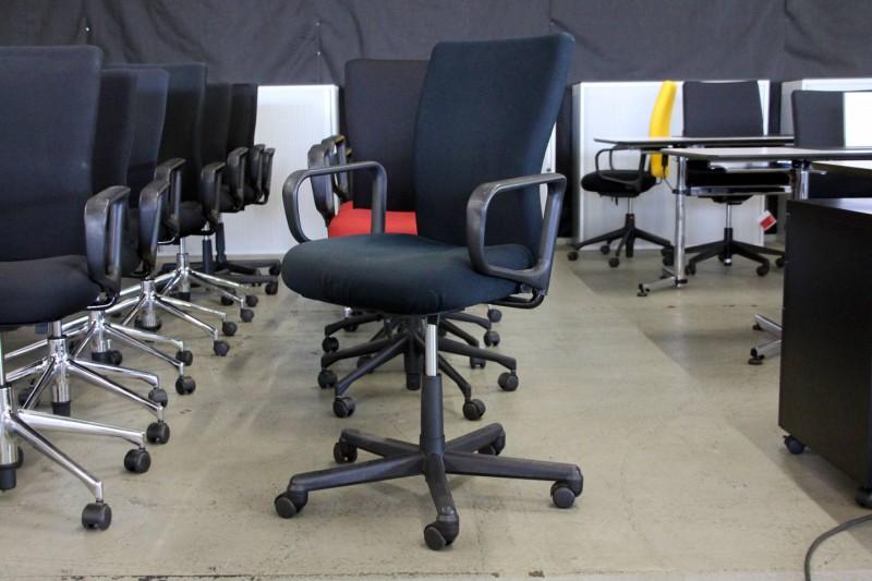 Vitra T-Chair Bürodrehstuhl Stoff / Schwarz