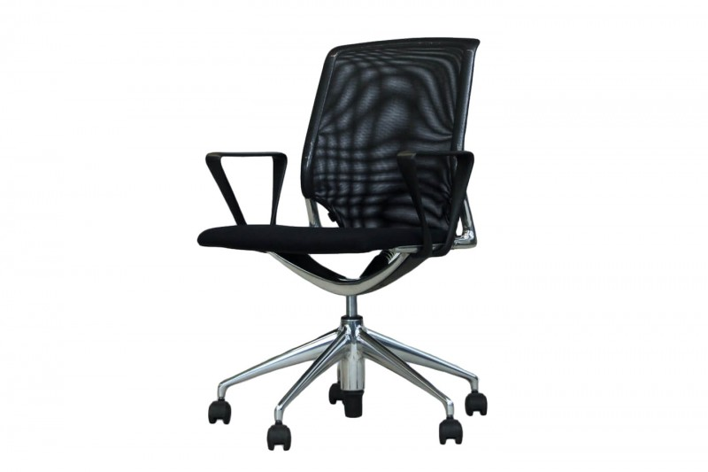Vitra Meda Chair Conference Chair Mesh / Fabric / Black