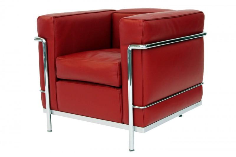 Cassina LC2 Le Corbusier Sessel Leder / Rot