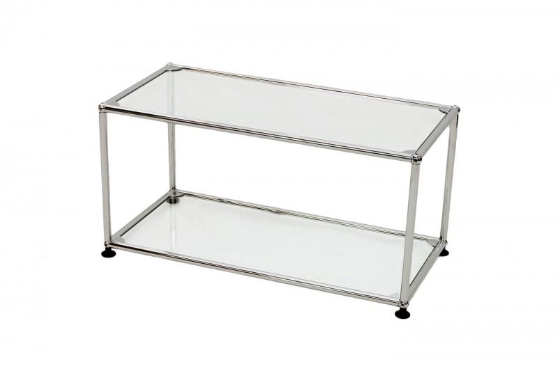 USM Haller Beistelltisch Glas 75 x 35 cm
