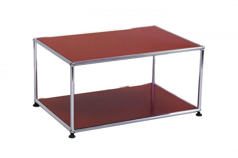 USM Haller Side Table USM Ruby Red 75 x 50 cm