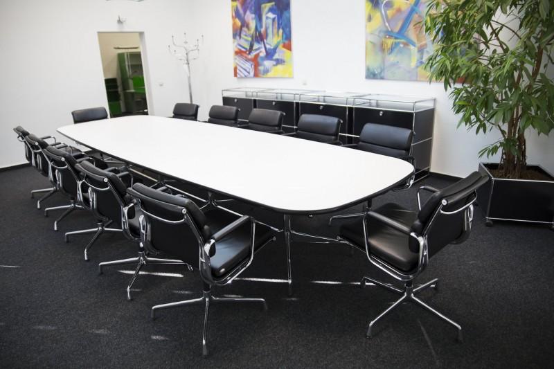 Vitra Konferenztisch Weiß 430 x 128 cm