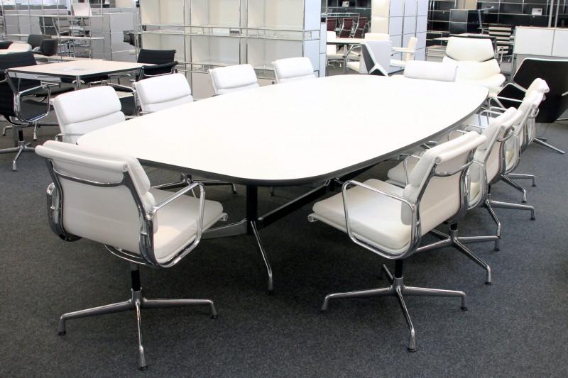 Vitra Konferenztisch Weiß 330 x 165 cm