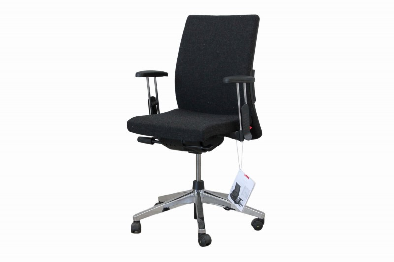 Haworth® Comforto 39 Bürodrehstuhl Stoff / Schwarz / Meliert