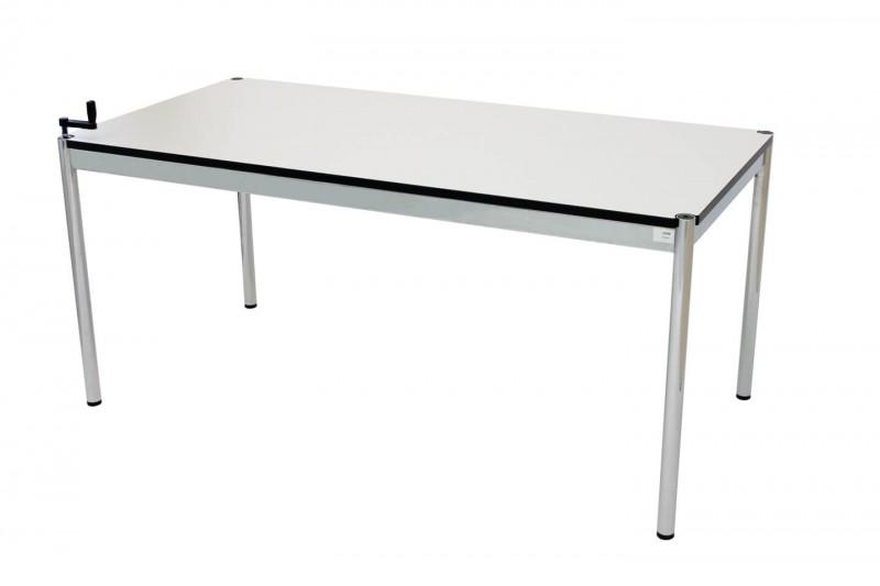 USM Haller Schreibtisch 150 x 75 cm höhenverstellbar Kunstharz / Weiß