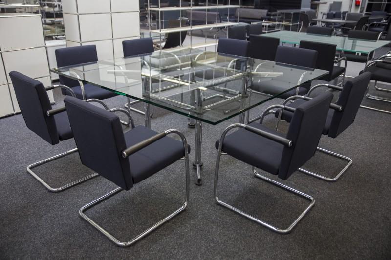 USM-Kitos Konferenztisch Glas 180 x 180 cm