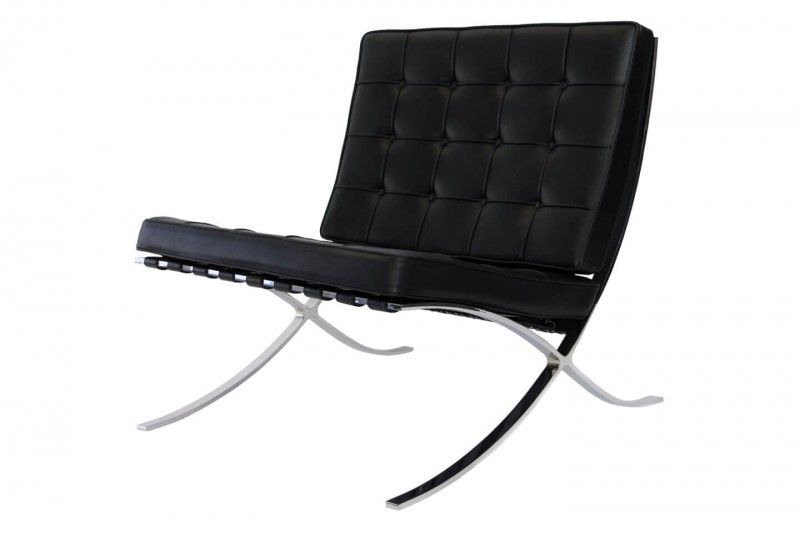 Knoll International Barcelona Sessel Leder / Schwarz