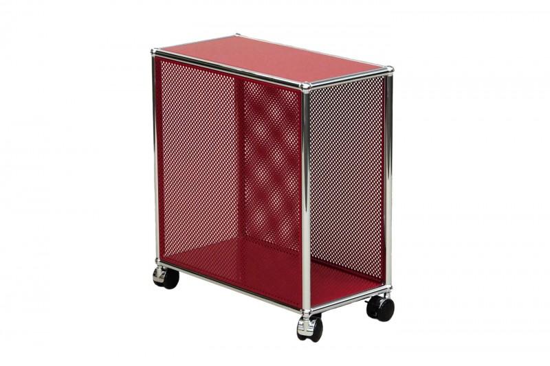 USM Haller Computer Trolley / Perforated / USM Ruby Red