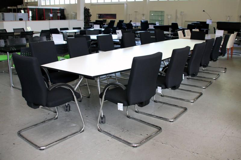 Vitra Konferenztisch / klappbar Weiß 500 x 120 cm