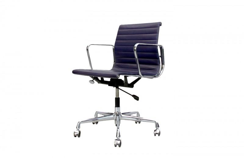 Vitra EA 117 Bürodrehstuhl Leder / Violett