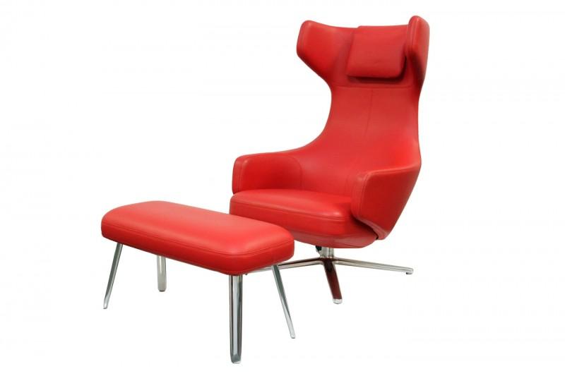 Vitra Repos & Panchina Leder / Rot