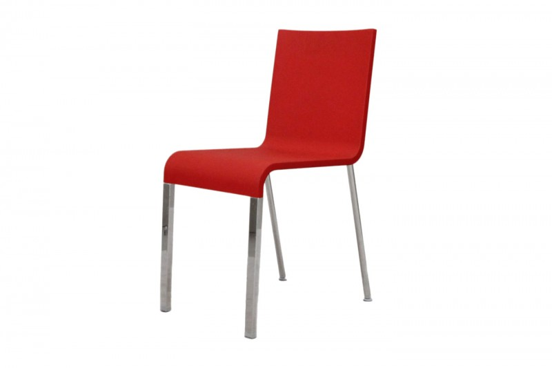 Vitra .03 Stuhl / Besucherstuhl / nicht stapelbar / rot