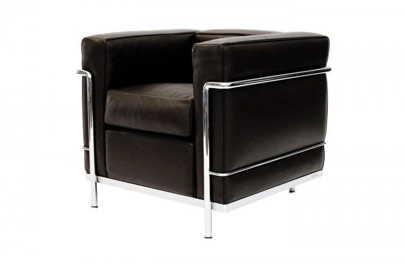 Cassina LC2 Le Corbusier Sessel Leder / Schwarz