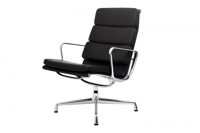 Vitra Soft Pad Chair EA 215 Sillón Piel / Nero