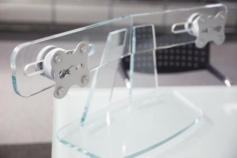 Designer Bildschirmhalter / Monitorhalterung / Glas