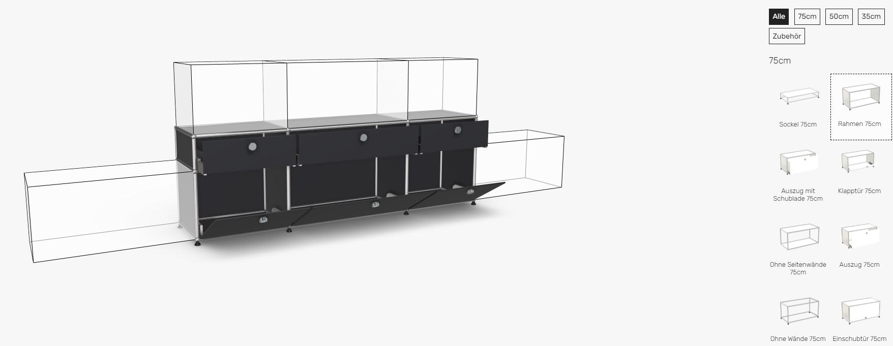 USM-Haller-Konfigurator-Sideboard-Schwarz
