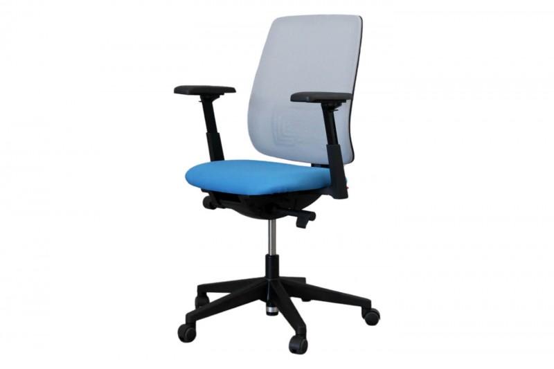Haworth® Comforto 29 Bürodrehstuhl Stoff / Grau / Blau