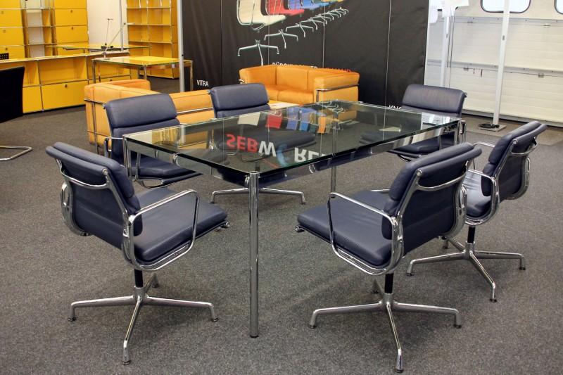 usm haller konferenztisch schreibtisch glas 175 x 100 cm schreibtische usm haller. Black Bedroom Furniture Sets. Home Design Ideas
