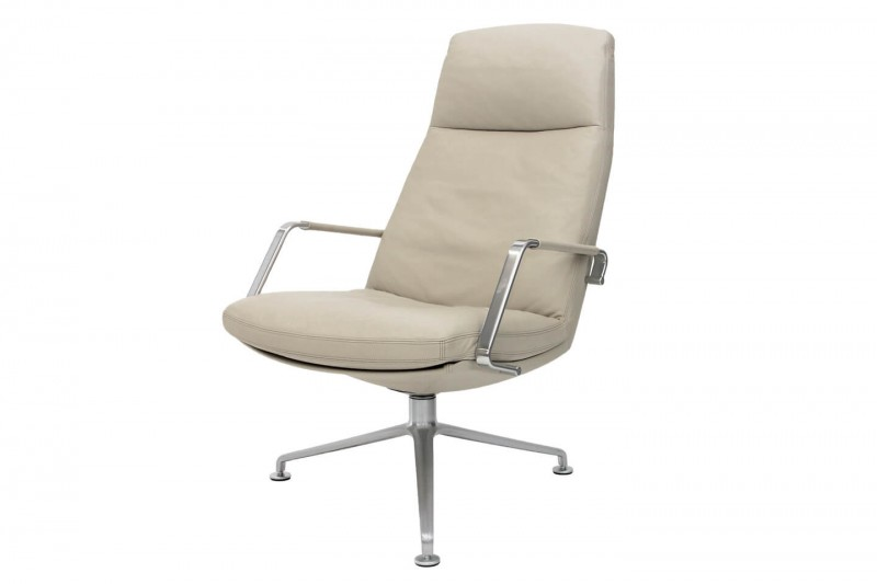 Walter Knoll FK 86 Lounge Chair Leather / Cream White