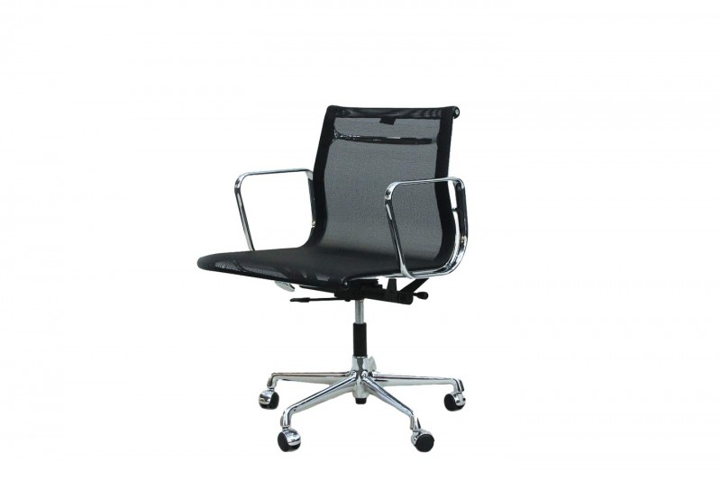 Vitra Aluminium Chair EA 117 Office Swivel Chair Netweave / Black
