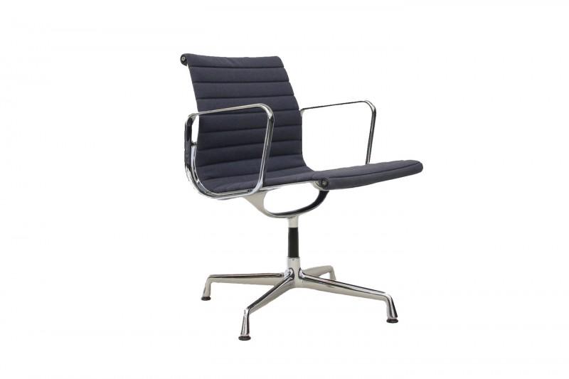 Vitra Aluminium Chair EA 108 Besucherstuhl / Hopsak / Blau
