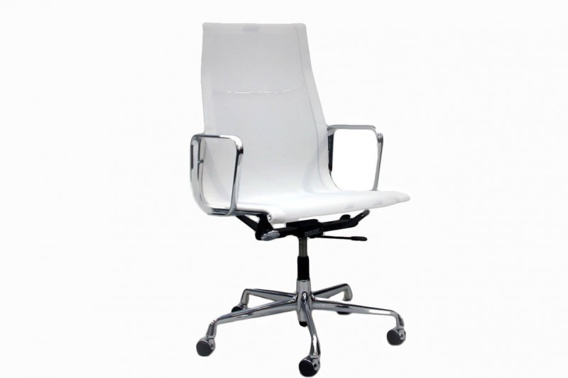 Vitra Aluminium Group EA 119 Chair Netz / Weiß