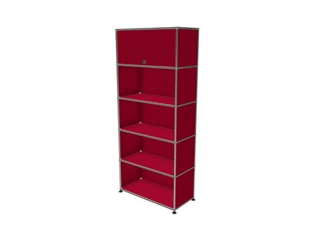 USM Haller Wall Shelf / Shelf USM Ruby Red