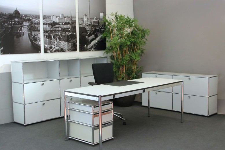 Usm Haller Schreibtisch Weiß 200 X 75 Cm Schreibtische Usm