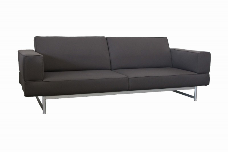 Designer Sofa inkl Sessel Stoff / Graubraun