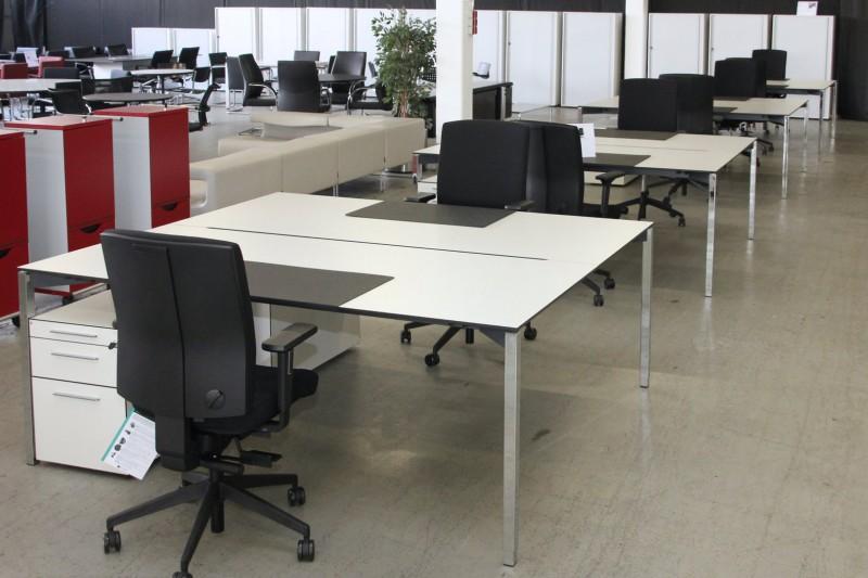 Dobergo Doppelarbeitsplatz 3-teilig