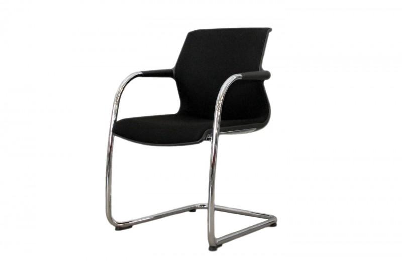 Vitra Unix Chair Freischwinger Stoff / Schwarz