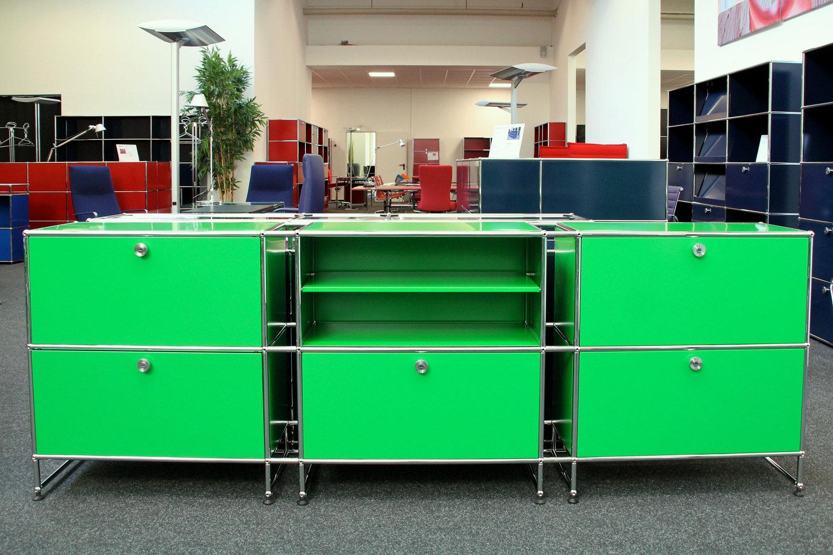 usm haller sideboard usm gr n sideboards usm haller designklassiker. Black Bedroom Furniture Sets. Home Design Ideas