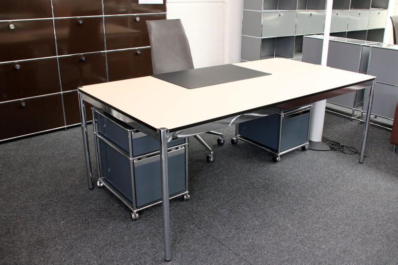 Usm Haller Schreibtisch Kunstharz Beige 200 X 100 Cm Desks Usm