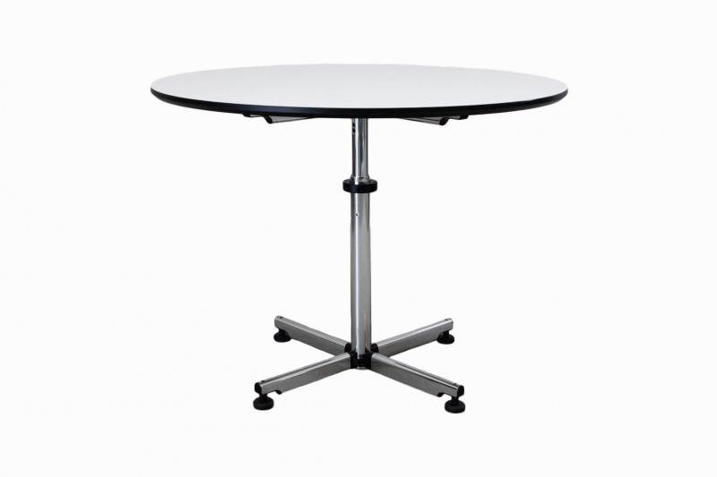 USM Kitos Conference Table Synthetic Resin / White / Ø 100 cm