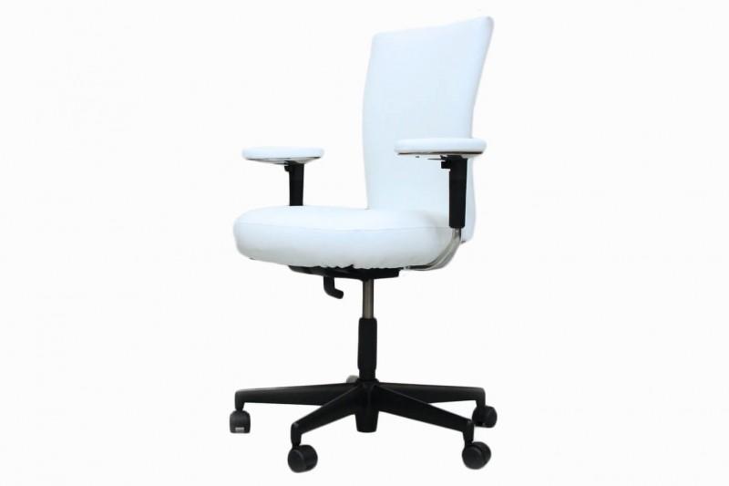 Vitra T-Chair Bürodrehstuhl Kunstleder / Weiß