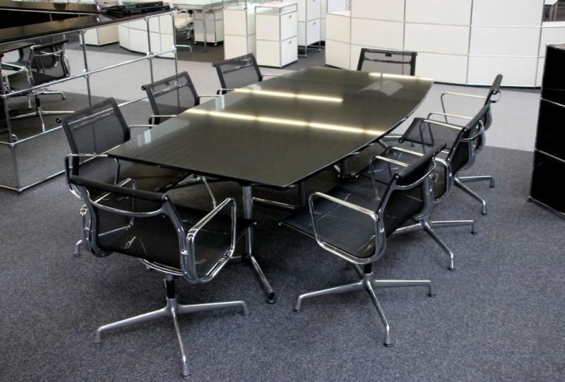 USM-Kitos Konferenztisch Granit / Schwarz 240 x 120 cm