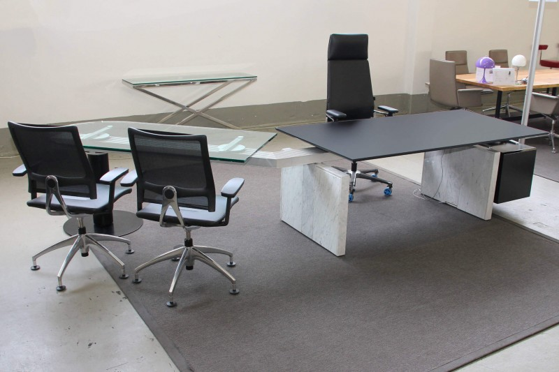 Designer Chefarbeitsplatz Glas / Marmor