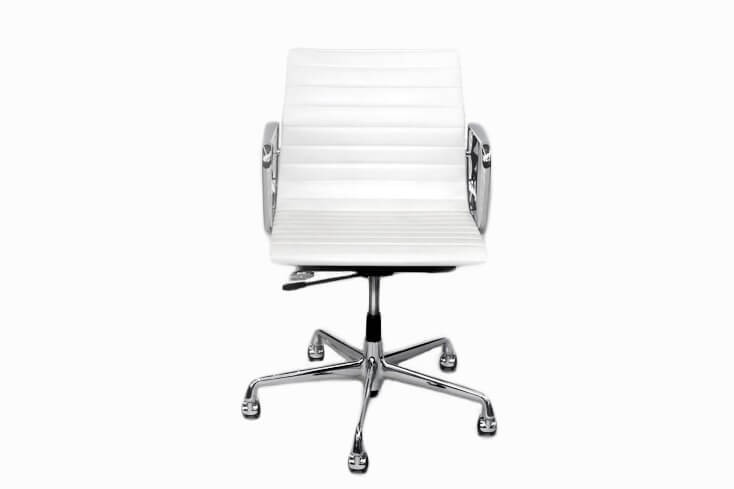 Vitra EA 117 Bürodrehstuhl Leder / Weiß