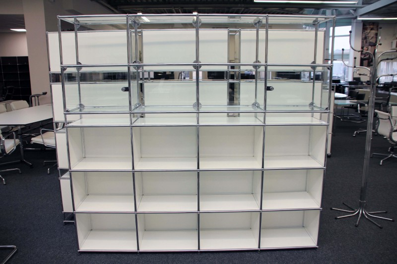 USM Haller Wall Shelf / Glass Cabinet Pure White RAL 9010