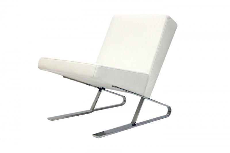ClassiCon Satyr Lounge Chair Leder / Weiß