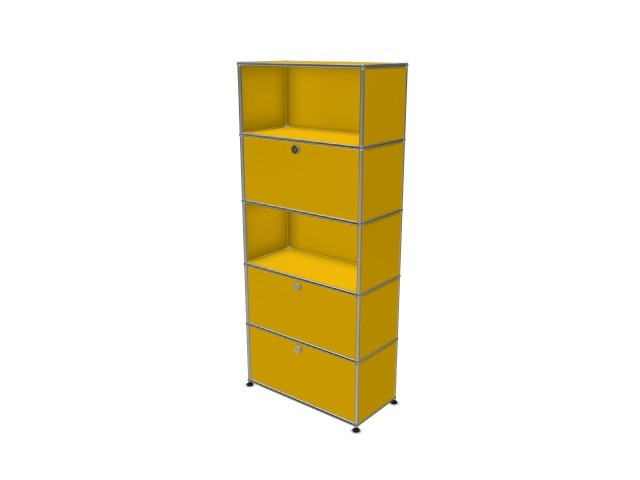 USM Haller Wall Shelf Golden Yellow RAL 1004