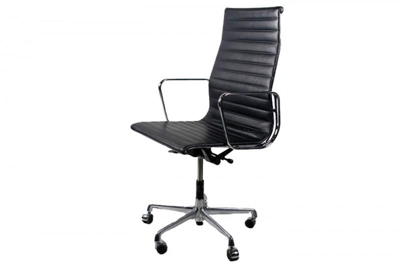 Vitra Aluminium Group EA 119 Chair Leder / Schwarz
