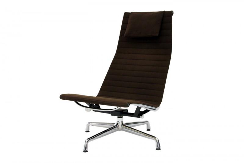 Vitra Aluminium Chair EA 124 Hopsak / Braun
