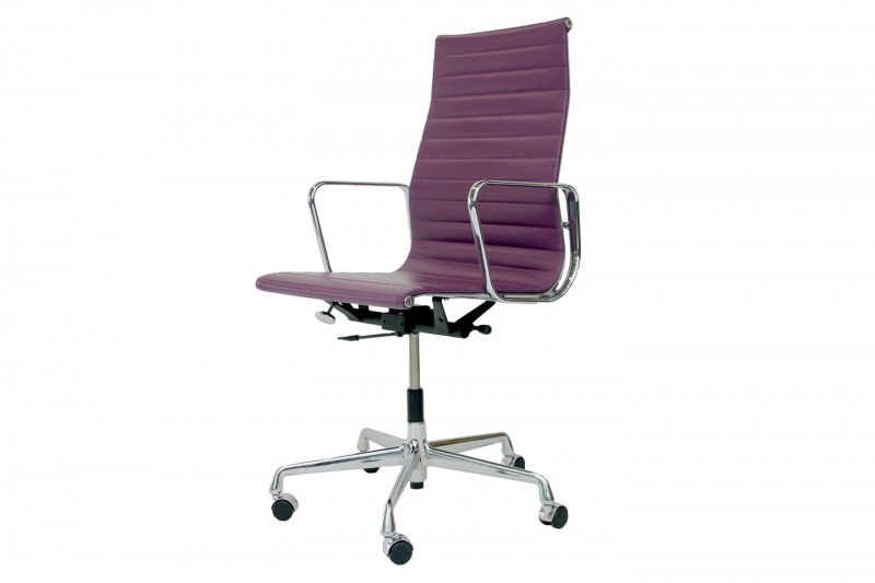 Vitra Aluminium Group EA 119 Chair Leder / Lila