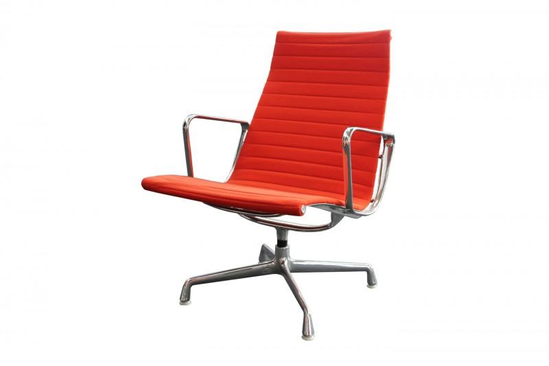 Vitra Aluminium Chair EA 115 Hopsak / Orange-Red