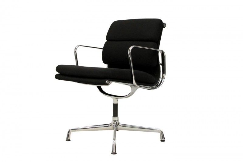Vitra Soft Pad EA 207 Conference Chair Fabric / Black