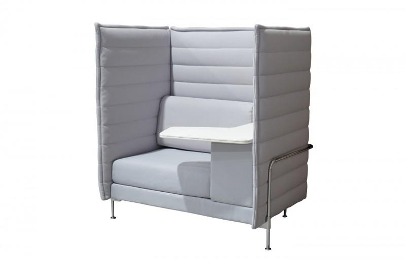 Vitra Alcove Highback Work Sofa Stoff / Hellgrau